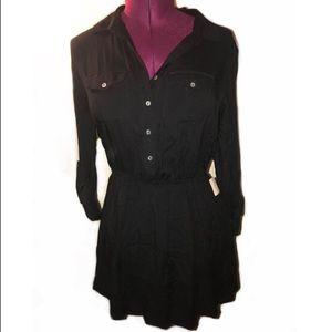 Black collared dress